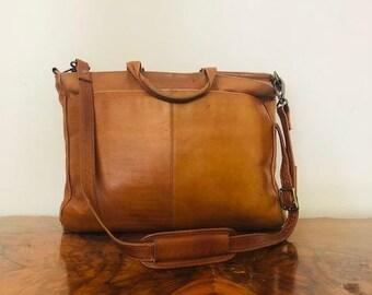 4a77e16069c Latico Brown Leather Briefcase,Organizer, Shoulder bag. Made in Columbia