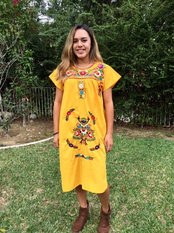 Oaxaca dress, Mexican dress, embroidered dress, dr