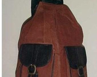"Backpack bag, Large, Leather backpack Hobo satchel, purses bags, 18""x14""x7"" Brown, Black,back pack"