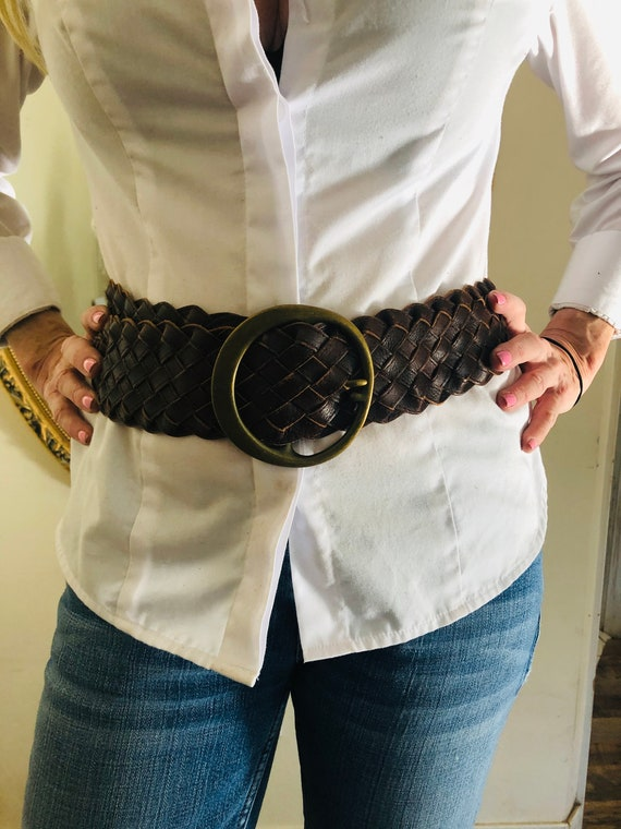 Moroccan belt, wide leather belt,Studded leather b