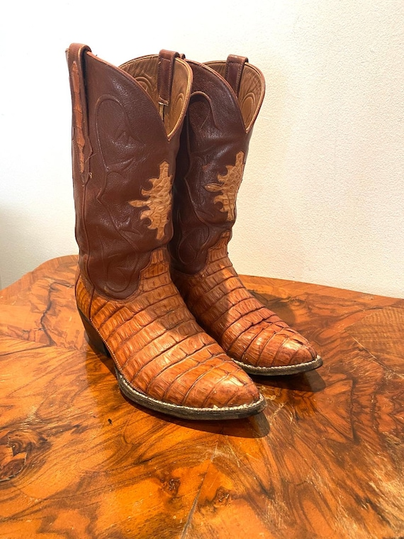 Real alligator cowboy western boots size 38-39 Eu