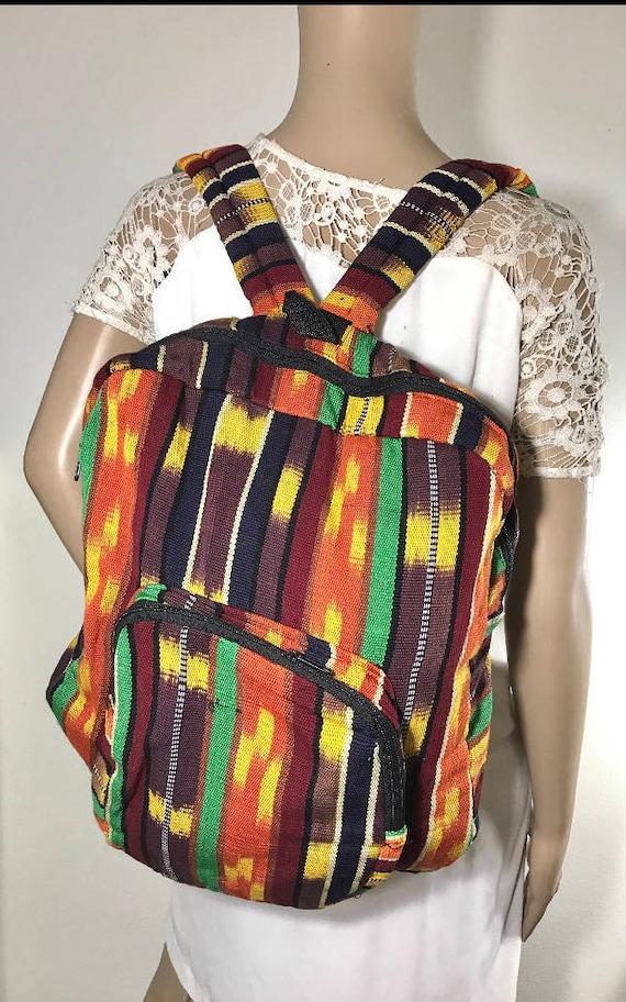 Guatemalan Backpack, Rainbow, Backpack, Rainbow