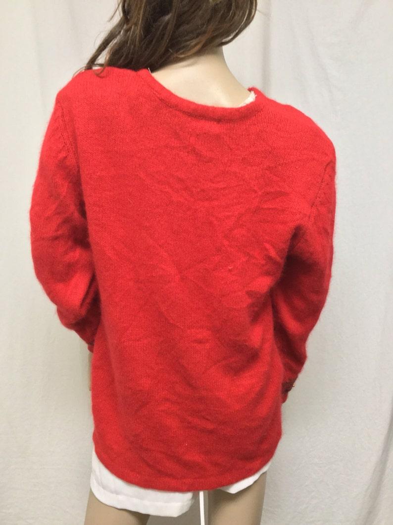 Beads Medium Bronze knit sweater,beaded sweater,Black Karen Scott Angora Sweater