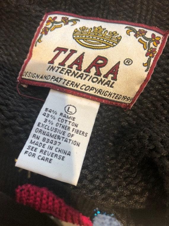 millennium 2000 millennium sweater sequin sweater Tiara international 1999 large