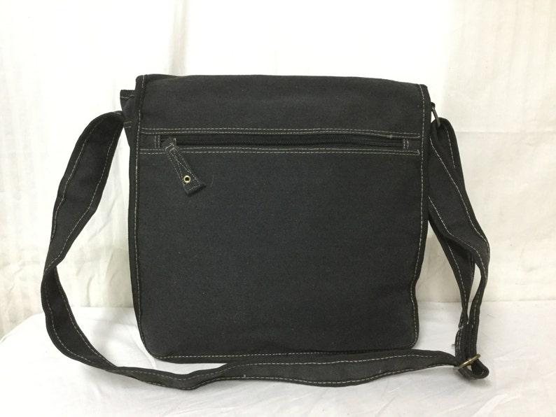 Shoulder Canvas Messenger bag,Warner Brothers Black,canvas Cross Body bag