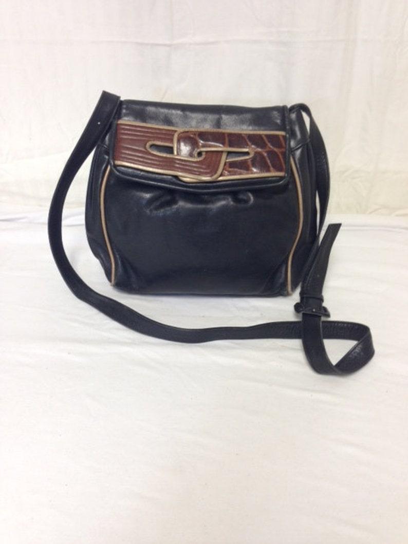 f6be6bec5d Susan Gail monedero de cuero negro bolso hecho en España