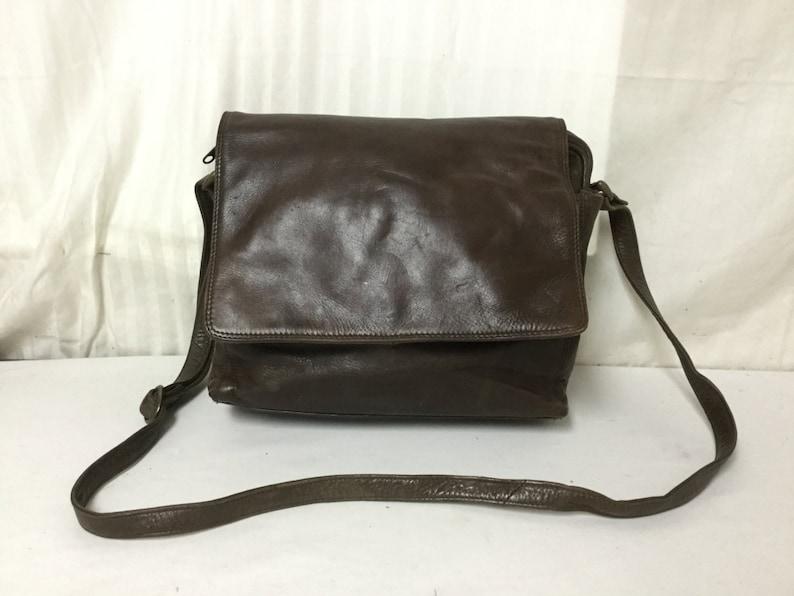 4dc2b9689cf4 Tano Brown Leather Pursebag Messenger Style Shoulder Bag