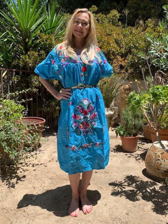 Oaxaca dress, embroidered dress, Mexican dress, B… - image 2