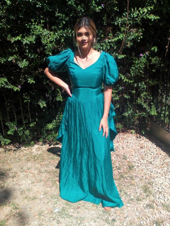 Lang Abendkleid grün formell kleiden Größe 9 10   Etsy 08238cffca