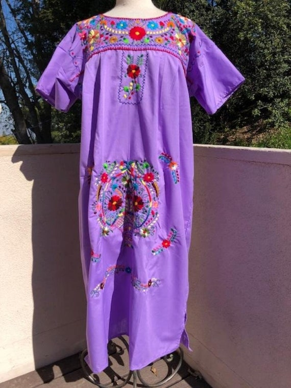 Oaxaca dress,embroidered dress,Large,Mexican dress