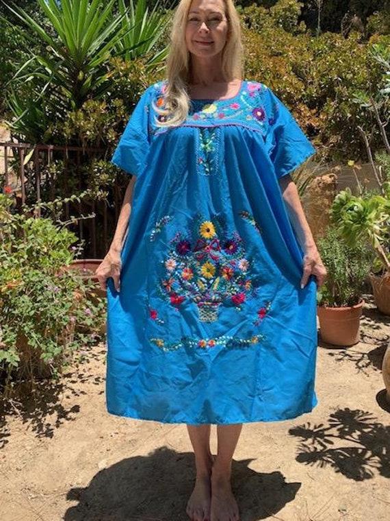 Oaxaca dress, embroidered dress, Mexican dress, B… - image 2