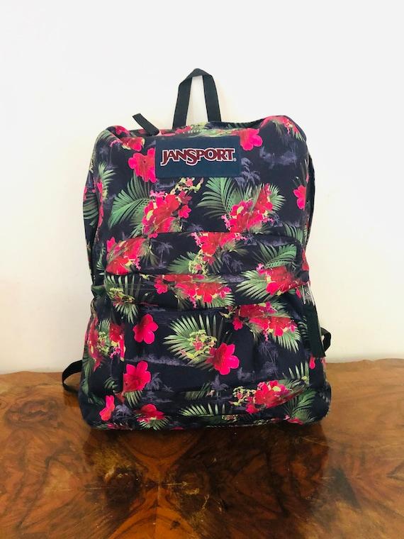 Jansport Hibiscus flower Backpack bag