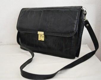 Eel skin leather bag,black leather purse, bags purses,leather shoulder bag