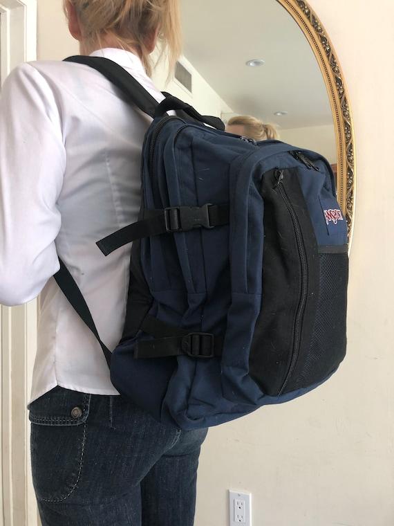 Jansport backpack, backpack bag, black, blue