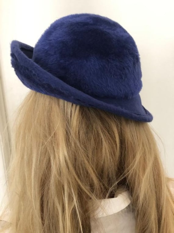 Norman Durand Original Hat from the 1940-50s,Blue… - image 3