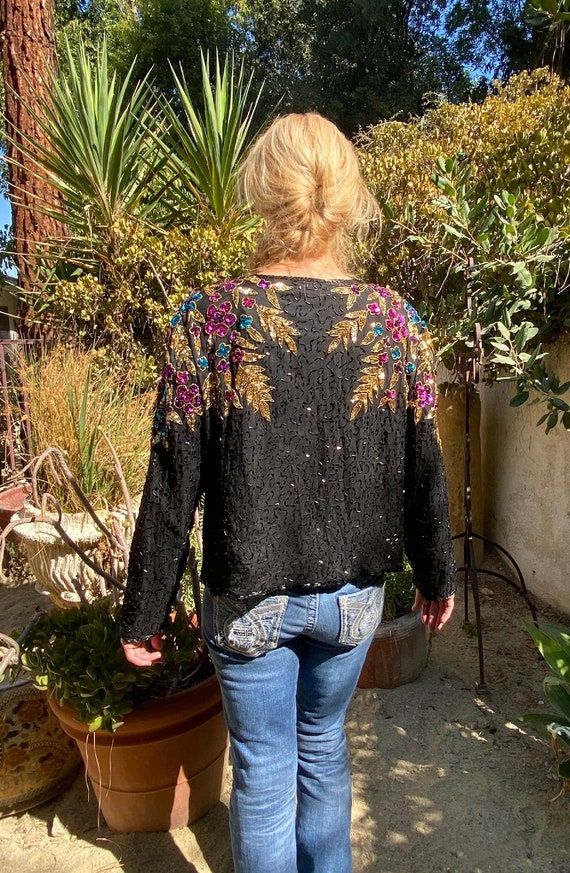 Gorgeous beaded jacket,Sequin jacket, Formal bead… - image 4
