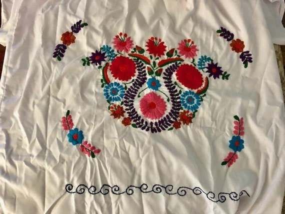 Mexican dress, embroidered BoHo dress, cotton dre… - image 5