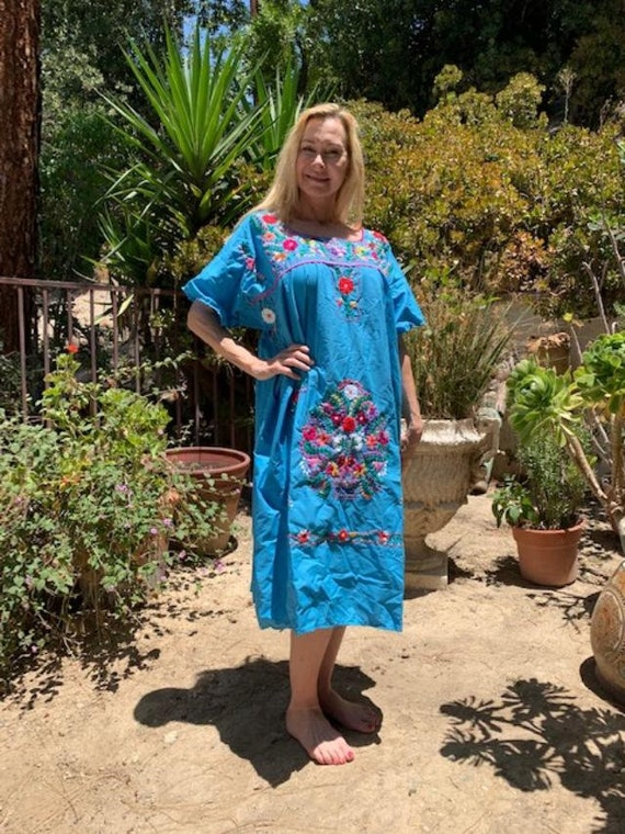 Oaxaca dress, embroidered dress, Mexican dress, Bo