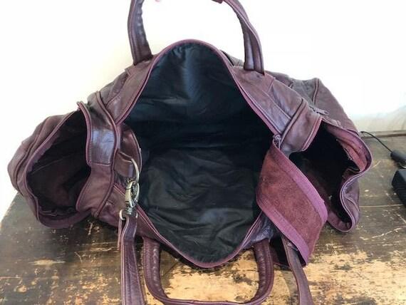 f03766bbdf16 Large leather Duffel Bag Large Burgundy leatherDuffle Bag