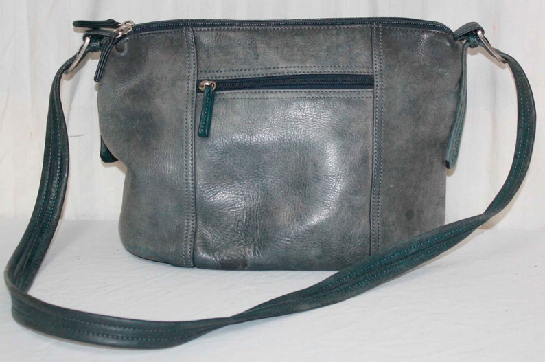 bf29fc36f797 Tignanelloleather pursebag Steel Blue Soft Leather