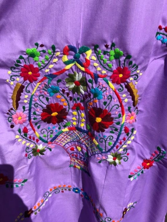 Oaxaca dress,embroidered dress,Large,Mexican dres… - image 3