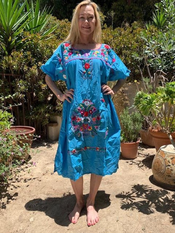 Oaxaca dress, embroidered dress, Mexican dress, B… - image 3