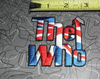 the who embroidered patch iron on sew on