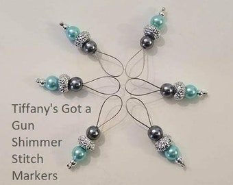 Tiffany's shimmer stitch markers