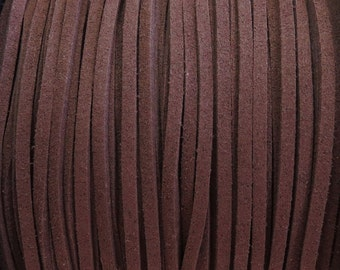 3x1.5mm Sienna Faux Suede Cord - (G9)