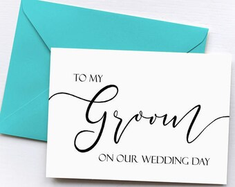 Wedding Card to Your Groom, To My Groom On Our Wedding Day Card, Note Card To My Bride, Groom to Be Card, Groom to Be Gift, Bride to Be Gift