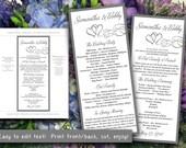 items similar to double heart wedding program microsoft word