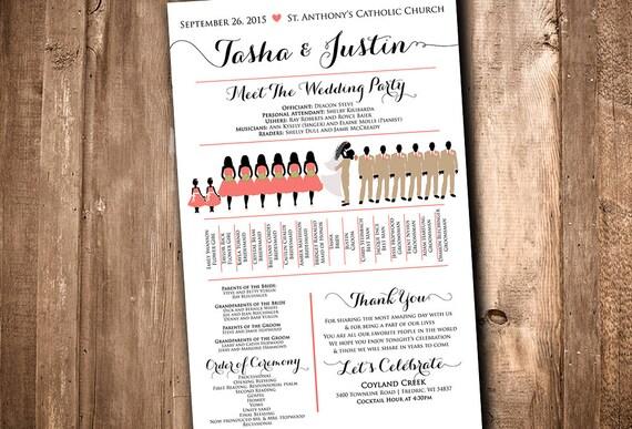Wedding Silhouette Program Party Meet The