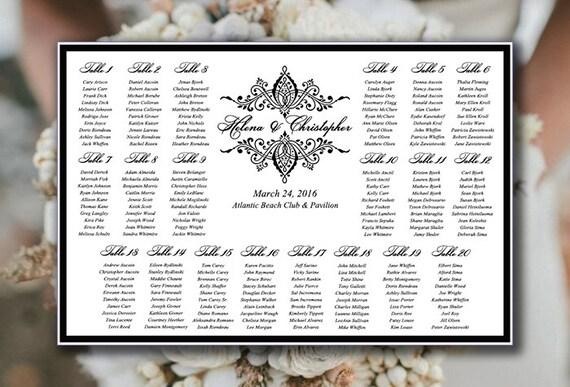 wedding seating chart printable wedding seating sign helena