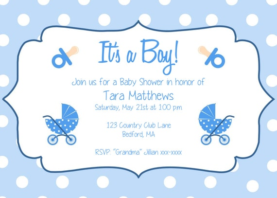 boy baby shower party invitation template it s a etsy