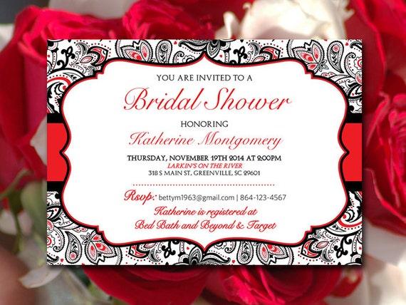Bridal Shower Invitation Template Wedding Shower Template Etsy