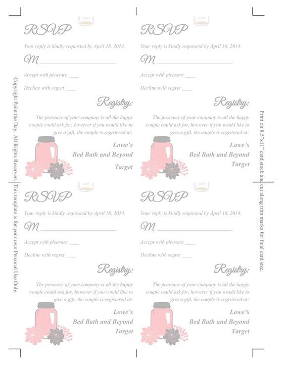 Weckglas Hochzeit Pocketfold Vorlage rustikale Einladung   Etsy