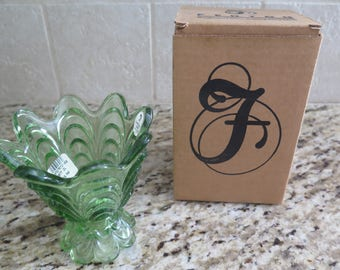 Fenton Drapery Votive / Fern Green with original box
