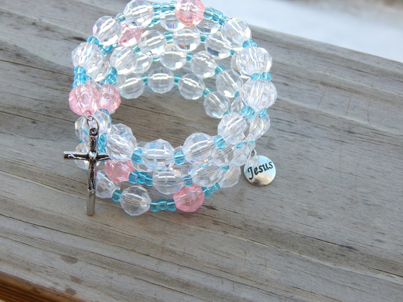 Rosary Memory Wire Bracelet