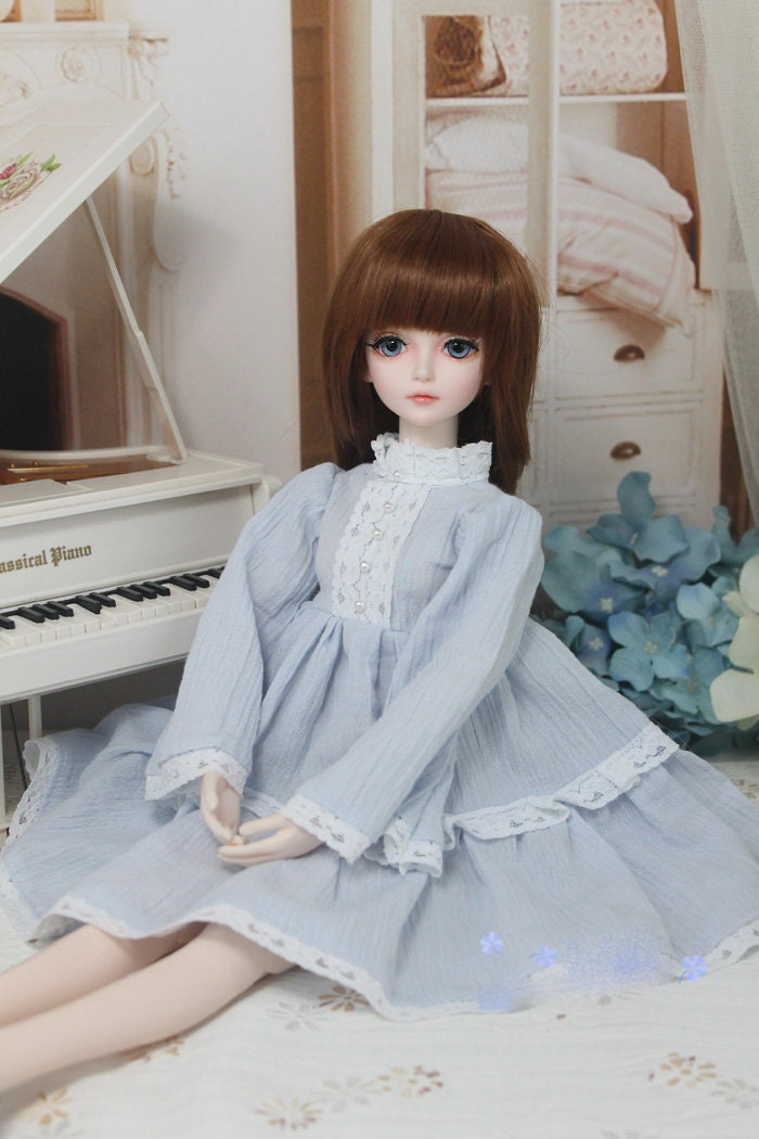 BJD sd 1/3 MSD 1/4 yosd long sleeves cotton gathered pleated lace ...