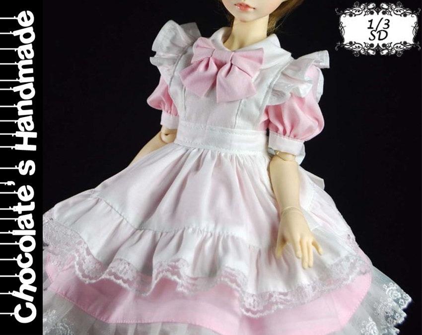 BJD Pattern SD 1/3 Japanese Maid cosplay costume dress set   Etsy