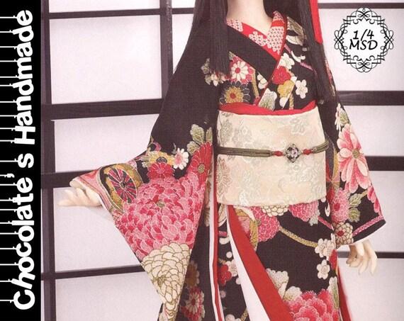 BJD Muster MSD 1/4 chinesische traditionelle japanische Kimono | Etsy