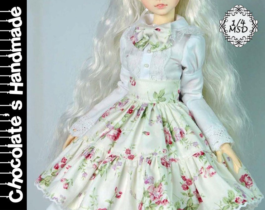 BJD Pattern MSD 1/4 Rose lolita dress set E-Pattern [with English ...