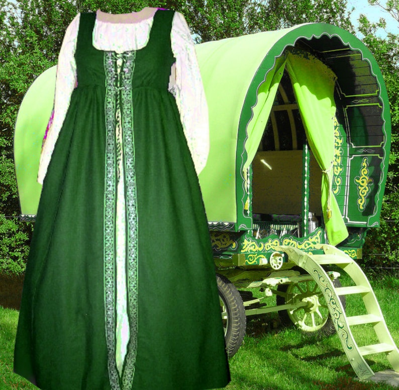 Green Irish Style Overdress