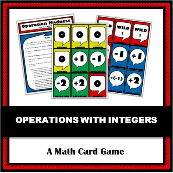 Operation Madness: A Math Game for Practicing Operations with Integers