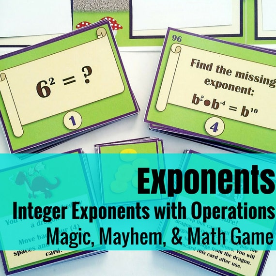 Magic, Mayhem, and...Math! : Integer Exponents (A Math Game Full of Adventure!)