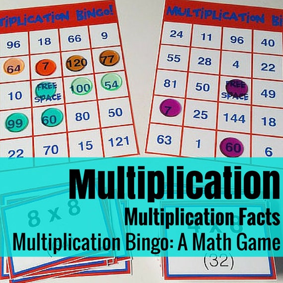 Multiplication Bingo Math Game