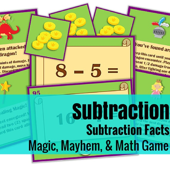 Magic, Mayhem, and...Math! : Subtraction Facts (A Math Game Full of Adventure!)
