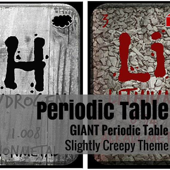 Giant Periodic Table: Just a Bit Creepy