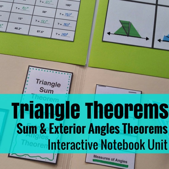 Folder Flips: Triangle Sum Theorem & Exterior Angles Theorem Interactive Notebook Unit
