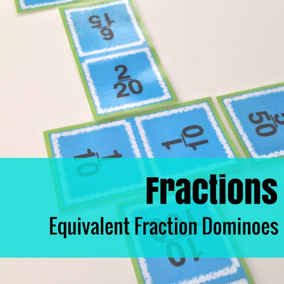 Fraction Dominoes Math Game